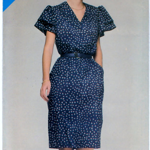 Butterick See and Sew 5287 Pattern Vintage Misses Dress