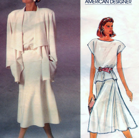 Vogue 1387 Pattern Vintage Misses Jacket, Skirt and Top
