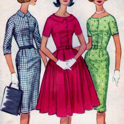McCalls 5597 Pattern Vintage Misses and Junior Dress with Slim or Full Skirt