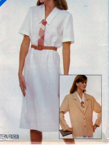 Butterick See And Sew 5378 Pattern Vintage Misses Jacket and Dress