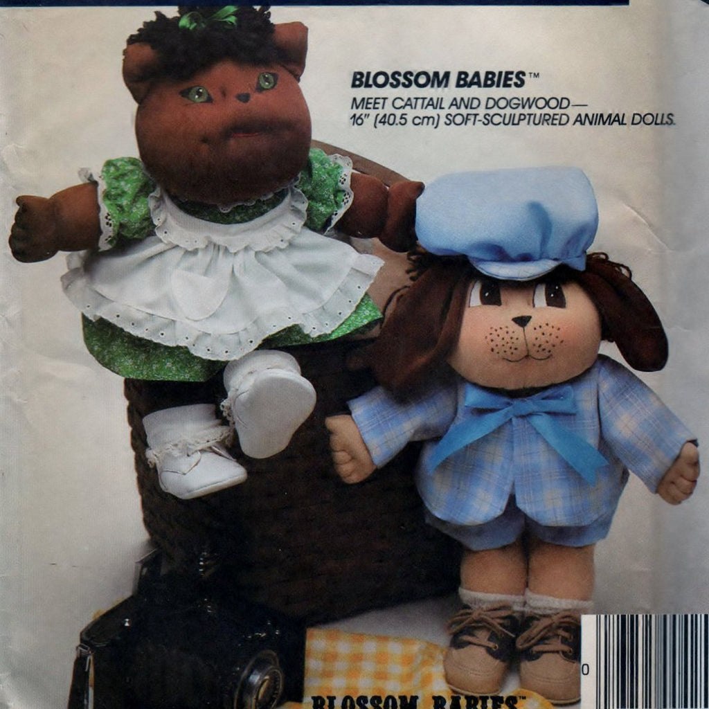 McCalls 9257 Pattern Vintage Soft Sculptured Animal Dolls Craft Tool