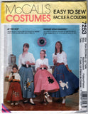 McCalls 7253 Pattern Vintage Girls and Misses Pull-on Skirt and Petticoat Costumes