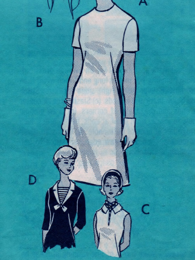 Misses Dress 9357 Pattern Vintage Department Mail Order