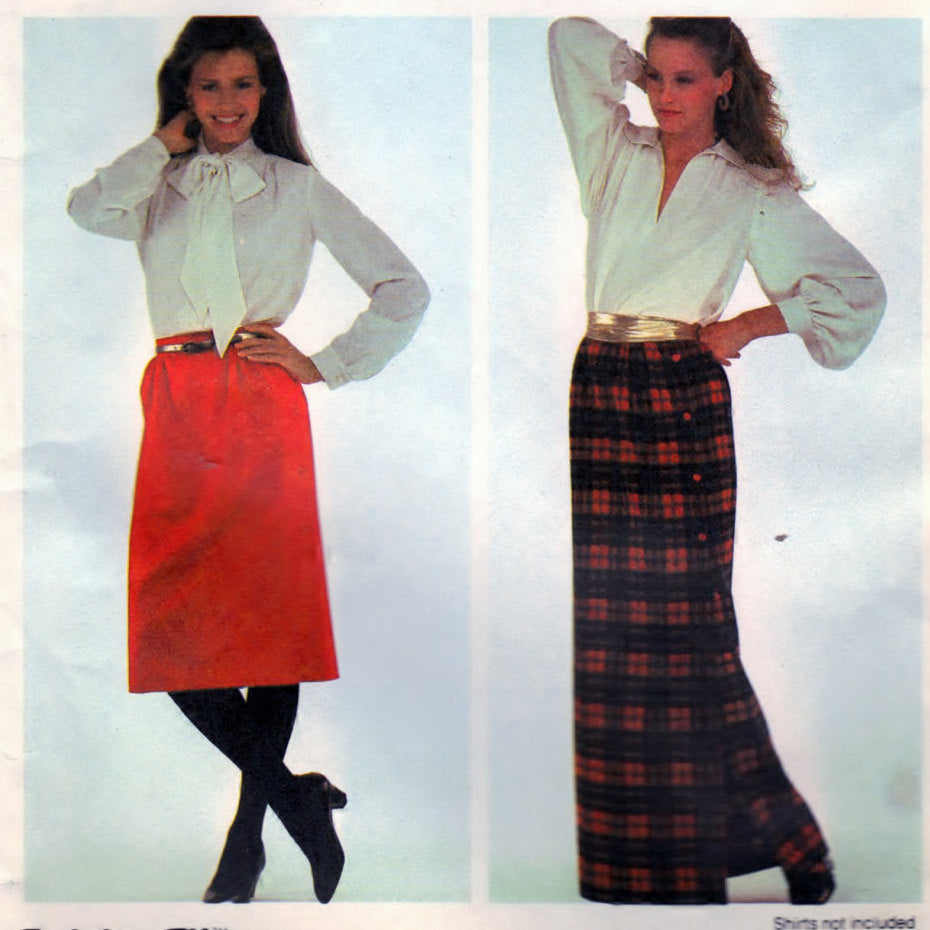 McCalls 7633 Pattern Vintage Misses Skirt