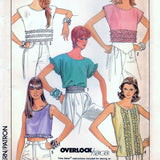 Simplicity 8623 Pattern Vintage Misses Pullover Tops