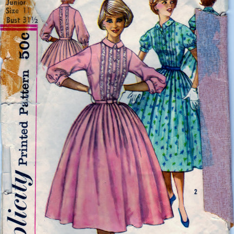 Simplicity 2126 Pattern Vintage Misses And Misses One Piece Dress