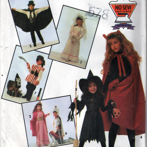 Simplicity 7927 Pattern Vintage Costumes For Children