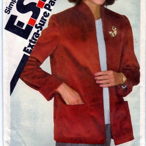 Simplicity 9619 Pattern Vintage Misses Unlined Jacket