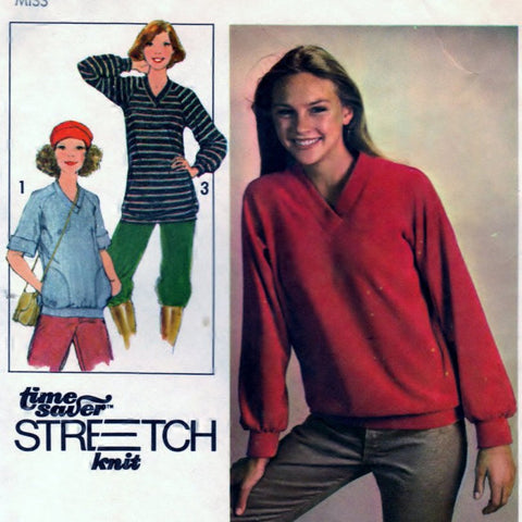Simplicity 8618 Pattern Vintage Misses Pullover Top