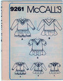 McCalls 9261 Pattern Vintage Childrens And Girls Dress