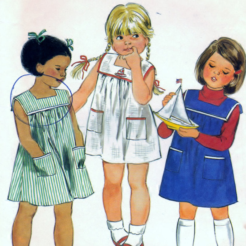 Butterick 3687 Pattern Childrens Dress