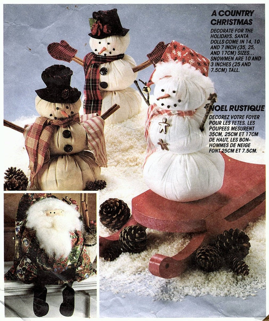 McCalls Crafts 6723 Pattern aka P440/849 Vintage A Country Christmas Supply