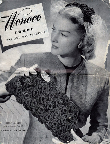 Wonoco Corde Patterns Vintage Hat And Bag Fashions Book Craft Tool