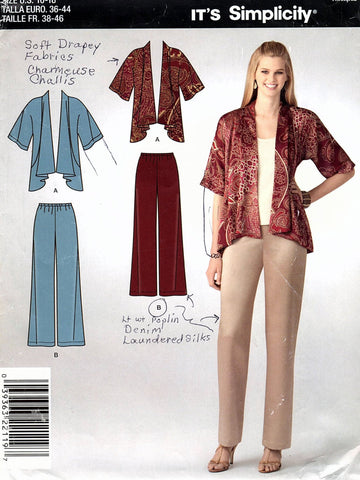 Simplicity A2119 Pattern Non-Vin Misses Jacket And Pants