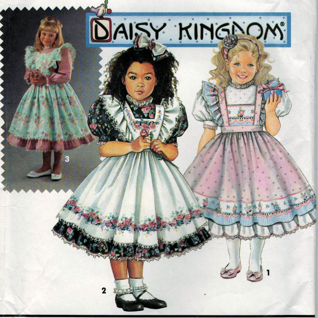 Simplicity 8318 Pattern Vintage Daisy Kingdom Childs Dress and Pinafore