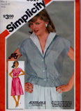 Simplicity 6327 Pattern Vintage Misses Jiffy Dress Or Top