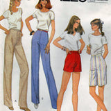 McCalls 7530 Pattern Vintage Misses Pants Or Shorts