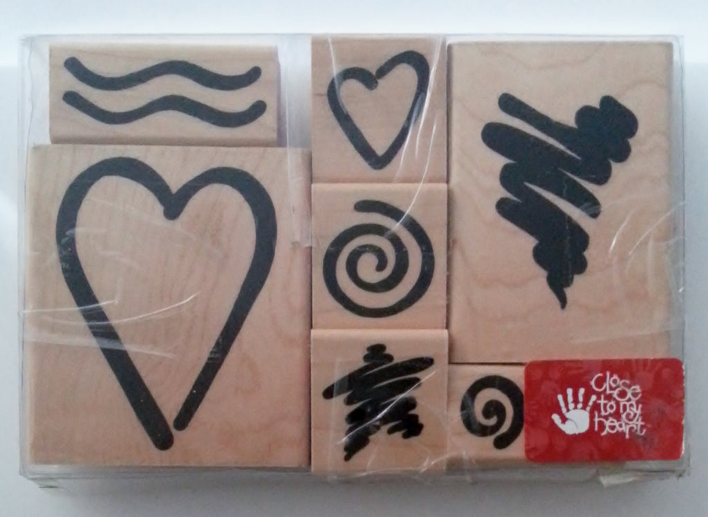 Close to My Heart Rubber Stamp Set Bodacious Bolds Valentines
