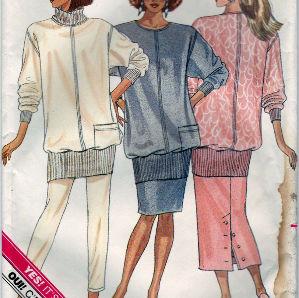 Butterick 5730 Pattern Vintage Misses Petite Top, Skirt And Pants
