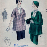 Vogue 7128 Pattern Vintage Maternity Tunic And Vestee