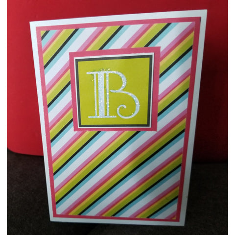 Striped Design Handmade Good Greeting Supply Card CLEARANCE