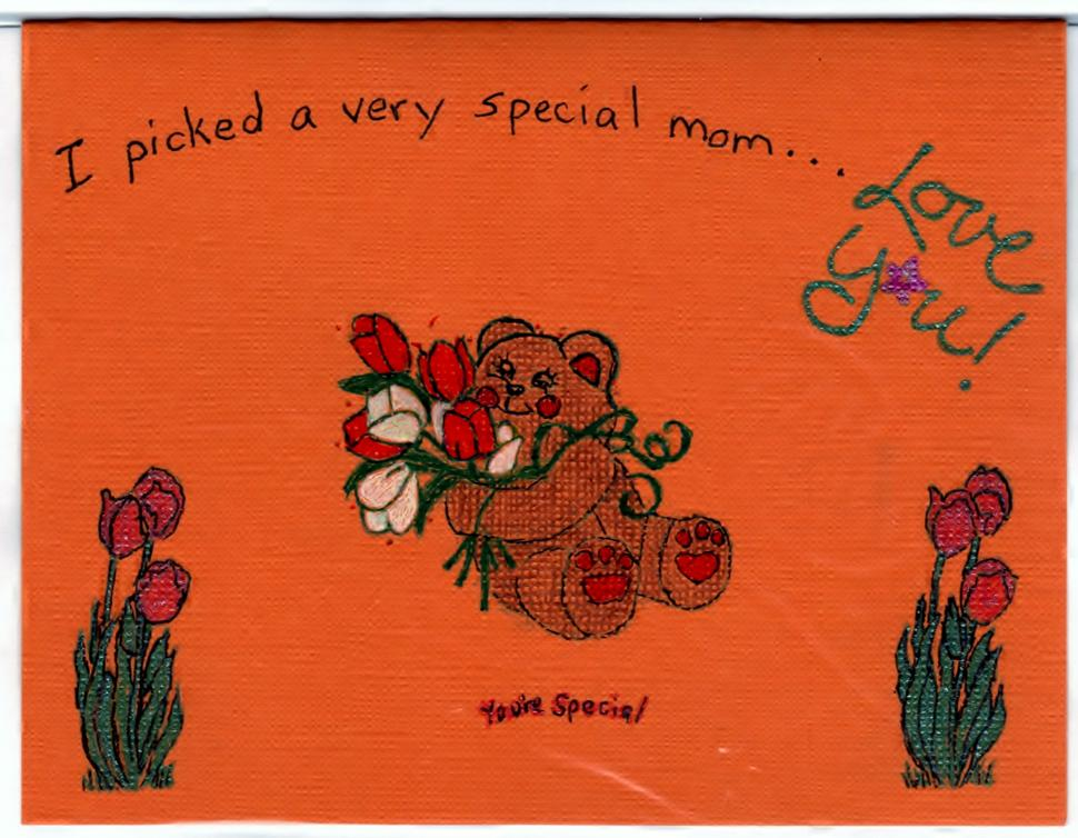 Mothers Day Handmade Good Greeting Supply Card