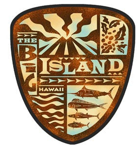 brown big island tapa shield