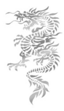 silver dragon decal