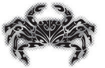 aama crab black and chrome decal