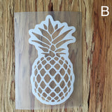 white pineapple decal