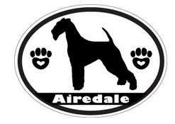 airedale dog silhouette decal
