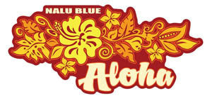 red and yellow aloha flower decal