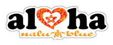 aloha with heart decal