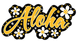 yellow aloha plumeria decal