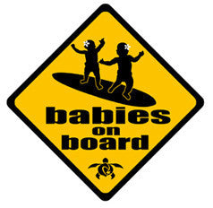 babies on board decal