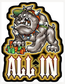 all in bulldog decal