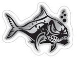 black and chrome crazy ulua decal