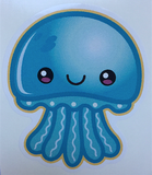 cute blue jellyfish decal