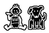 family decal set baby and dog