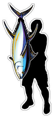 Silhouette holding ahi decal