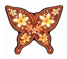plumeria butterfly decal