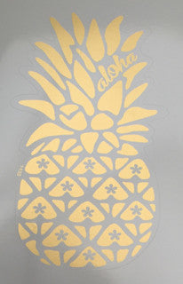 matte gold pineapple sticker