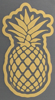 matte gold pineapple decal