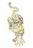 gold tiger decal