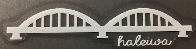 white haleiwa bridge silhouette decal