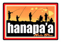 "silhouette of fishermen standing with poles and ""hanapa'a"""