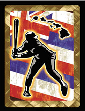 Hawaiian flag baseball decal