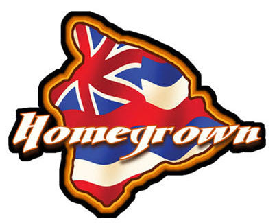 big island homegrown with hawaiian flag