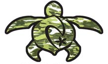 camoflage green turtle decal