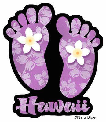 Purple Hawaii footprint decal